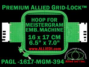 16 x 17 cm (6.5 x 7 inch) Rectangular Premium Allied Grid-Lock Plastic Embroidery Hoop - Meistergram 394