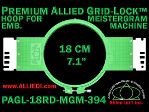 18 cm (7.1 inch) Round Premium Allied Grid-Lock Plastic Embroidery Hoop - Meistergram 394
