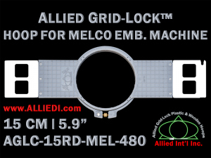 15 cm (5.9 inch) Round Allied Grid-Lock (New Design) Plastic Embroidery Hoop - Melco 480
