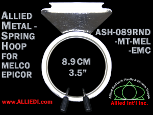 8.9 cm (3.5 inch) Round Single Height Allied Metal Embroidery Hoop, Spring Load - Melco Epicor (EMC) Flat Table
