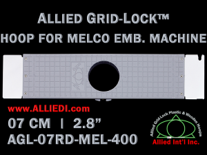 7 cm (2.8 inch) Round Allied Grid-Lock Plastic Embroidery Hoop - Melco 400
