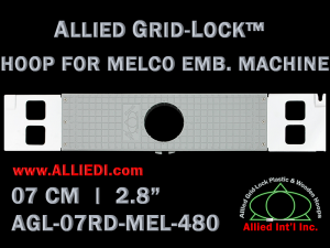 7 cm (2.8 inch) Round Allied Grid-Lock Plastic Embroidery Hoop - Melco 480