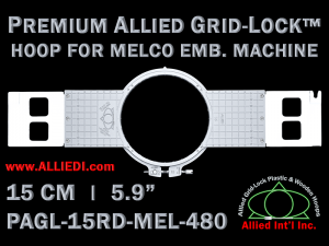 Melco 15 cm (5.9 inch) Round Premium Allied Grid-Lock Embroidery Hoop for 480 mm Sew Field / Arm Spacing