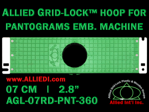 7 cm (2.8 inch) Round Allied Grid-Lock Plastic Embroidery Hoop - Pantograms 360