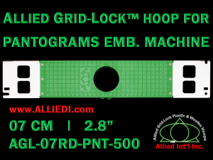 7 cm (2.8 inch) Round Allied Grid-Lock Plastic Embroidery Hoop - Pantograms 500