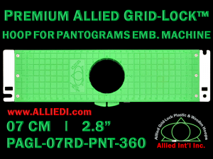 7 cm (2.8 inch) Round Premium Allied Grid-Lock Plastic Embroidery Hoop - Pantograms 360
