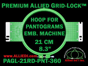 21 cm (8.3 inch) Round Premium Allied Grid-Lock Plastic Embroidery Hoop - Pantograms 360