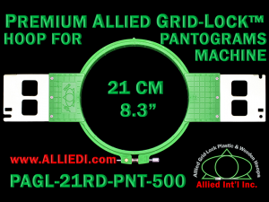 21 cm (8.3 inch) Round Premium Allied Grid-Lock Plastic Embroidery Hoop - Pantograms 500