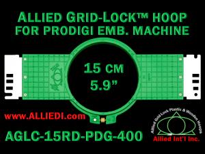 15 cm (5.9 inch) Round Allied Grid-Lock (New Design) Plastic Embroidery Hoop - Prodigi 400