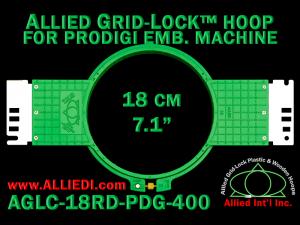 18 cm (7.1 inch) Round Allied Grid-Lock (New Design) Plastic Embroidery Hoop - Prodigi 400