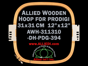 31.1 x 31.0 cm (12.2 x 12.2 inch) Rectangular Allied Wooden Embroidery Hoop, Double Height - Prodigi 394