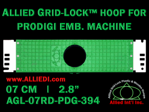 7 cm (2.8 inch) Round Allied Grid-Lock Plastic Embroidery Hoop - Prodigi 394
