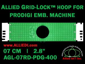7 cm (2.8 inch) Round Allied Grid-Lock Plastic Embroidery Hoop - Prodigi 400
