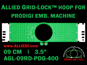 9 cm (3.5 inch) Round Allied Grid-Lock Plastic Embroidery Hoop - Prodigi 400