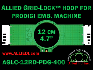 12 cm (4.7 inch) Round Allied Grid-Lock (New Design) Plastic Embroidery Hoop - Prodigi 400