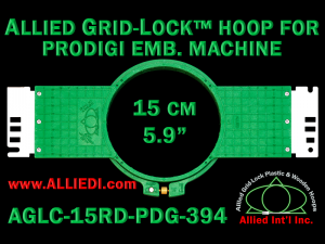 15 cm (5.9 inch) Round Allied Grid-Lock (New Design) Plastic Embroidery Hoop - Prodigi 394