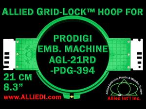 21 cm (8.3 inch) Round Allied Grid-Lock Plastic Embroidery Hoop - Prodigi 394