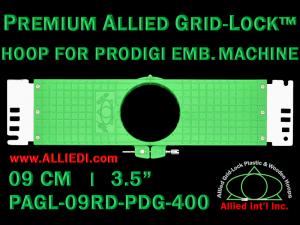 9 cm (3.5 inch) Round Premium Allied Grid-Lock Plastic Embroidery Hoop - Prodigi 400