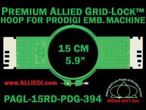 15 cm (5.9 inch) Round Premium Allied Grid-Lock Plastic Embroidery Hoop - Prodigi 394