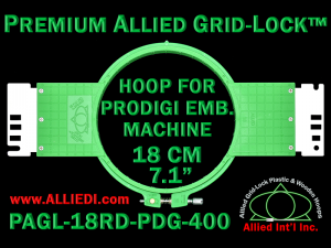 18 cm (7.1 inch) Round Premium Allied Grid-Lock Plastic Embroidery Hoop - Prodigi 400