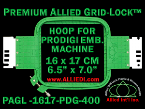 16 x 17 cm (6.5 x 7 inch) Rectangular Premium Allied Grid-Lock Plastic Embroidery Hoop - Prodigi 400