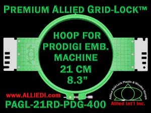 21 cm (8.3 inch) Round Premium Allied Grid-Lock Plastic Embroidery Hoop - Prodigi 400