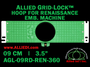 9 cm (3.5 inch) Round Allied Grid-Lock Plastic Embroidery Hoop - Renaissance 360
