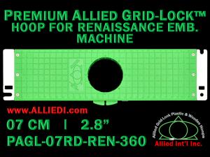 7 cm (2.8 inch) Round Premium Allied Grid-Lock Plastic Embroidery Hoop - Renaissance 360
