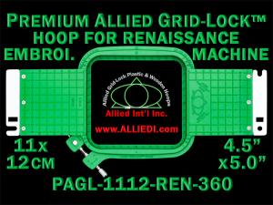 11 x 12 cm (4.5 x 5 inch) Rectangular Premium Allied Grid-Lock Plastic Embroidery Hoop - Renaissance 360