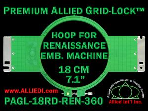 18 cm (7.1 inch) Round Premium Allied Grid-Lock Plastic Embroidery Hoop - Renaissance 360