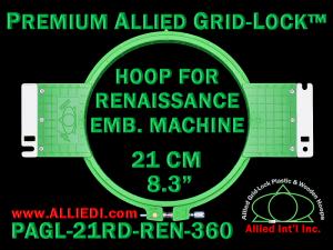 21 cm (8.3 inch) Round Premium Allied Grid-Lock Plastic Embroidery Hoop - Renaissance 360