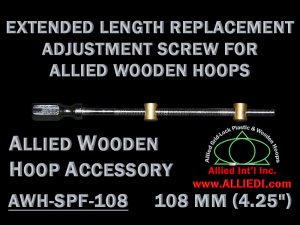 108 mm (4.25 inch) Extra Long Hex Head Replacement Hoop Adjustment Screw for Allied Wooden Embroidery Hoops
