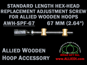 67 mm (2.64 inch) Hex Head Replacement Hoop Adjustment Screw for Allied Wooden Embroidery Hoops