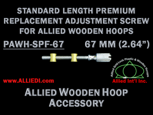 67 mm (2.64 inch) Knurled Replacement Hoop Adjustment Screw for Allied Wooden Embroidery Hoops