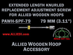 79 mm (3.11 inch) Long Knurled Replacement Hoop Adjustment Screw for Allied Wooden Embroidery Hoops