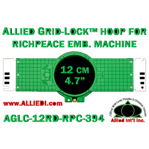 12 cm (4.7 inch) Round Allied Grid-Lock (New Design) Plastic Embroidery Hoop - Richpeace 394