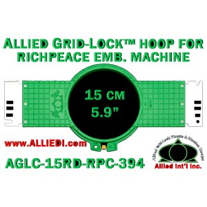 15 cm (5.9 inch) Round Allied Grid-Lock (New Design) Plastic Embroidery Hoop - Richpeace 394