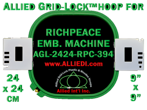 24 x 24 cm (9 x 9 inch) Square Allied Grid-Lock Plastic Embroidery Hoop - Richpeace 394