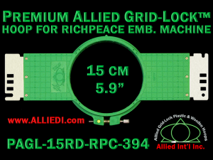 15 cm (5.9 inch) Round Premium Allied Grid-Lock Plastic Embroidery Hoop - Richpeace 394