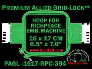 16 x 17 cm (6.5 x 7 inch) Rectangular Premium Allied Grid-Lock Plastic Embroidery Hoop - Richpeace 394
