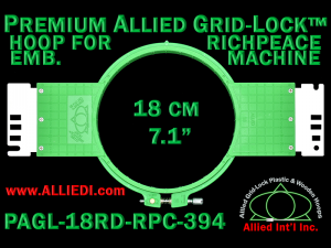 18 cm (7.1 inch) Round Premium Allied Grid-Lock Plastic Embroidery Hoop - Richpeace 394