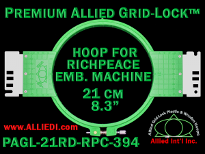 21 cm (8.3 inch) Round Premium Allied Grid-Lock Plastic Embroidery Hoop - Richpeace 394
