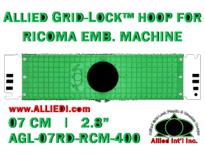 7 cm (2.8 inch) Round Allied Grid-Lock Plastic Embroidery Hoop - Ricoma 400