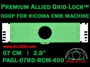 7 cm (2.8 inch) Round Premium Allied Grid-Lock Plastic Embroidery Hoop - Ricoma 400
