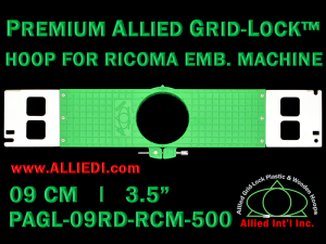 9 cm (3.5 inch) Round Premium Allied Grid-Lock Plastic Embroidery Hoop - Ricoma 500