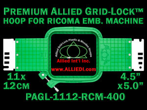 11 x 12 cm (4.5 x 5 inch) Rectangular Premium Allied Grid-Lock Plastic Embroidery Hoop - Ricoma 400