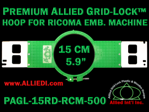 15 cm (5.9 inch) Round Premium Allied Grid-Lock Plastic Embroidery Hoop - Ricoma 500
