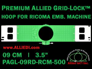 9 cm (3.5 inch) Round Premium Allied Grid-Lock Plastic Embroidery Hoop - Ricoma 500