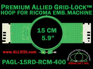 15 cm (5.9 inch) Round Premium Allied Grid-Lock Plastic Embroidery Hoop - Ricoma 400