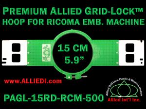 15 cm (5.9 inch) Round Premium Allied Grid-Lock Plastic Embroidery Hoop - Ricoma 500